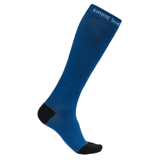 Compression socks for flying in blue