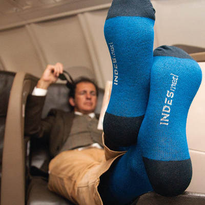 Compression socks for flying and for varicose