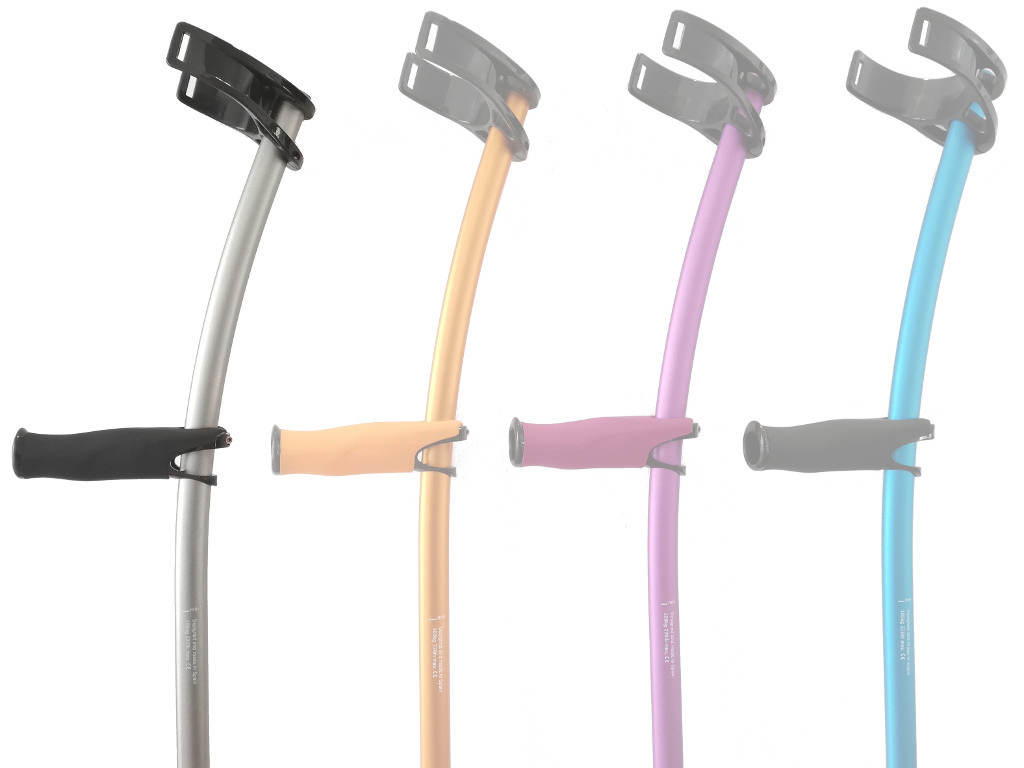 Crutches for walking INDESmed color grey with standard cuff