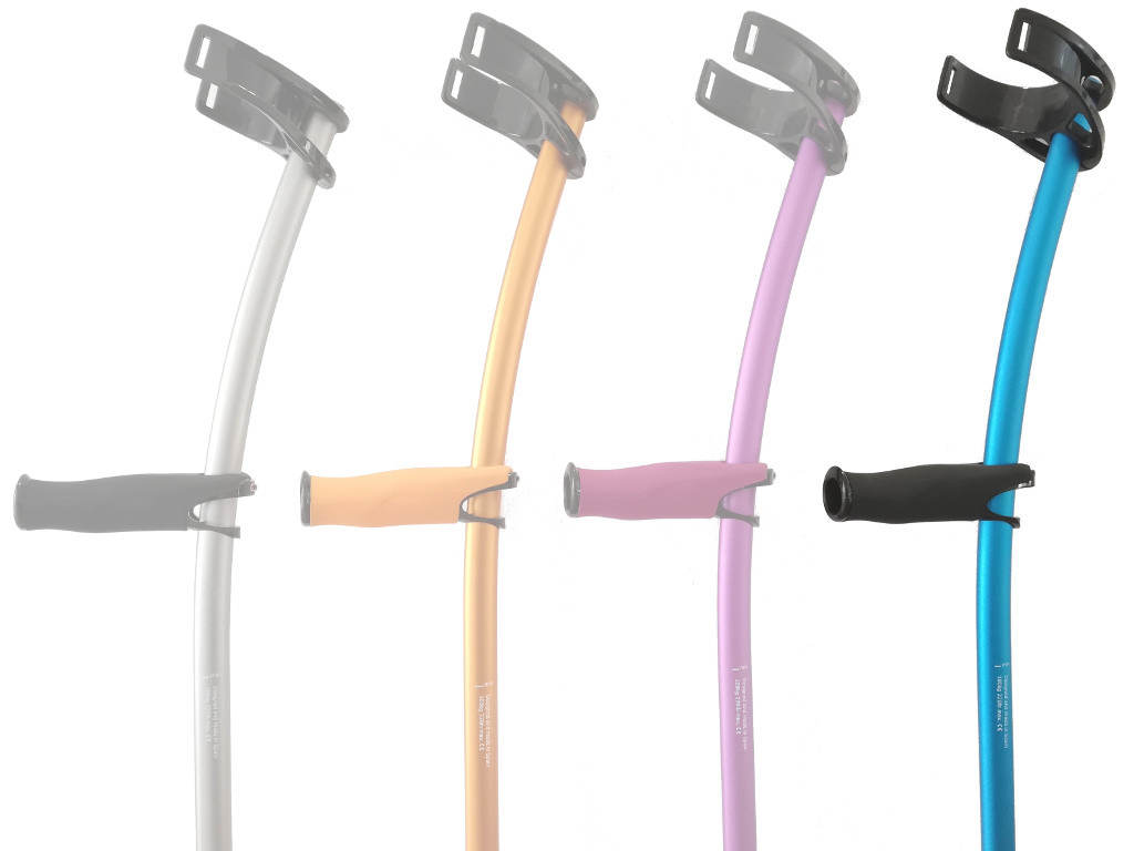 Elbow Crutches color blue with standard cuff