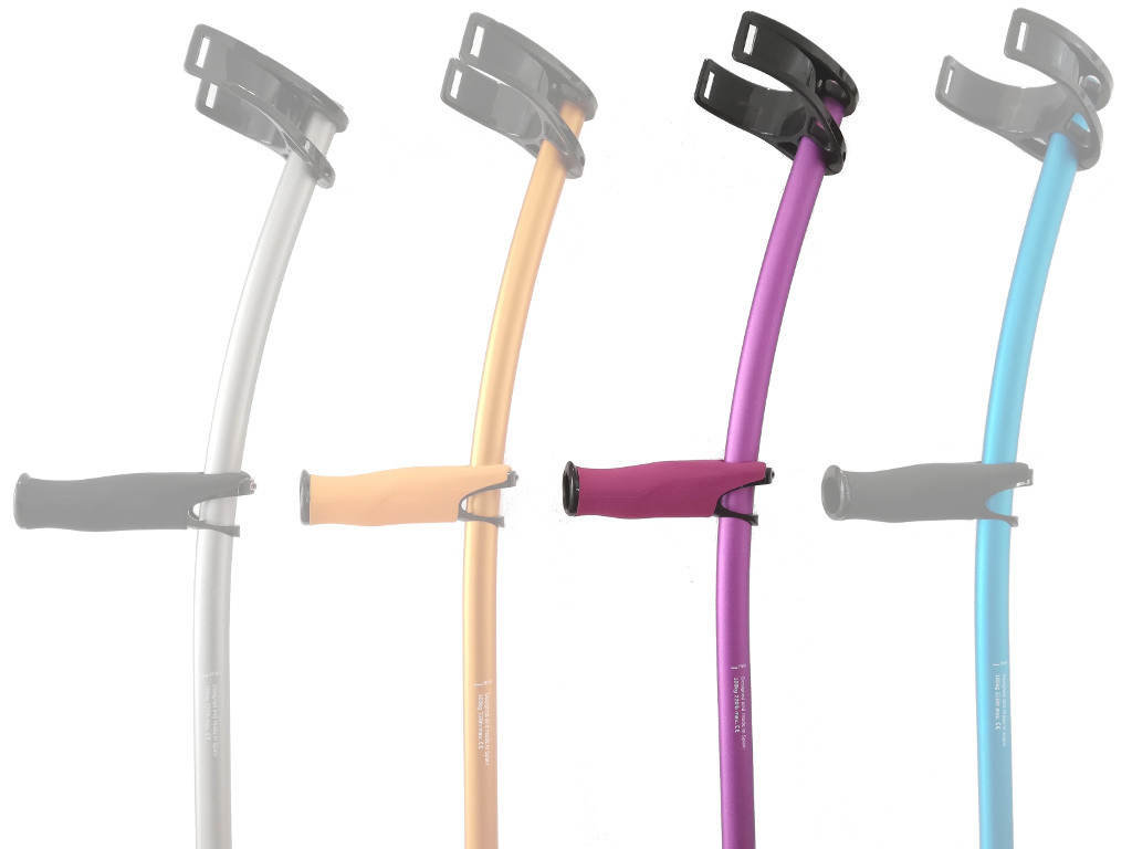 Lofstrand Crutches color pink/violet with standard cuff