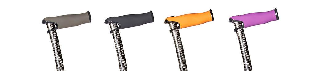 Gehstock edel 100% Carbon - Vier Farben zur Auswahl für unsere ergonomischen Griffe