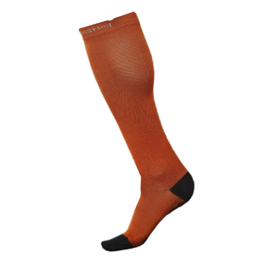 Chaussettes de contention homme couleur orange INDESmed