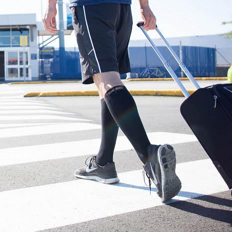 bello economico genuino primo sguardo Calze elastiche uomo migliorano la circolazione delle gambe: vene varicose,  caviglie gonfie, gambe stanche, edema, fatti in fibra di bambù e cotone, ...