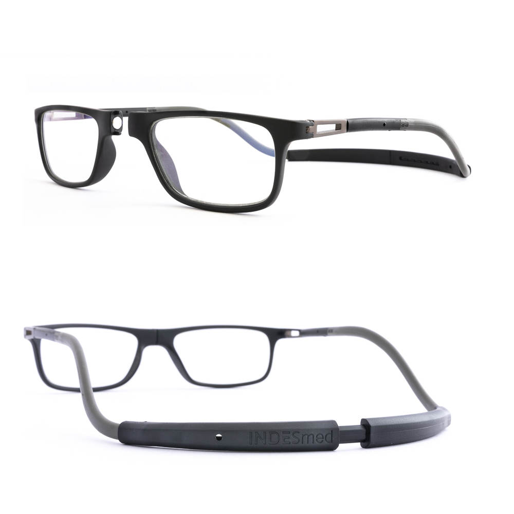 Reading glasses blue light in black