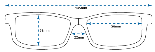 Reading glasses for women: dimensions