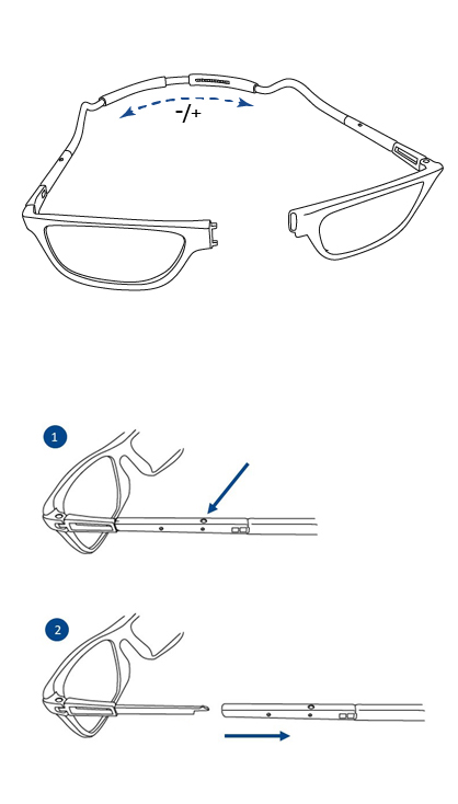 Reading glasses for women, instructions